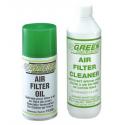 KIT NETTOYAGE GREEN FILTER DETERGENT+HUILE AEROSOL 300ML