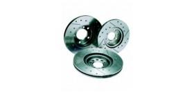 Disques de frein REDSPEC Rainurés percés pour PEUGEOT 206 S16/306/ZX16V 266x20.5 mm avant