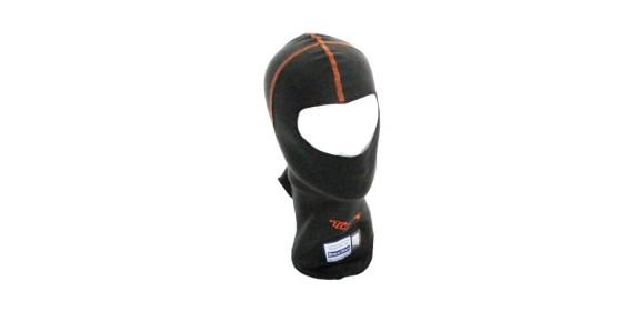 Cagoule ouverte PRO FIA 8856-2000 Noir coutures orange TURN ONE