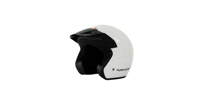 Casque Jet TURN ONE Track blanc
