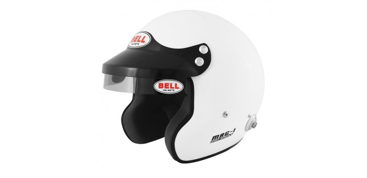 Casque FIA jet BELL MAG-1 8859-2015 blanc