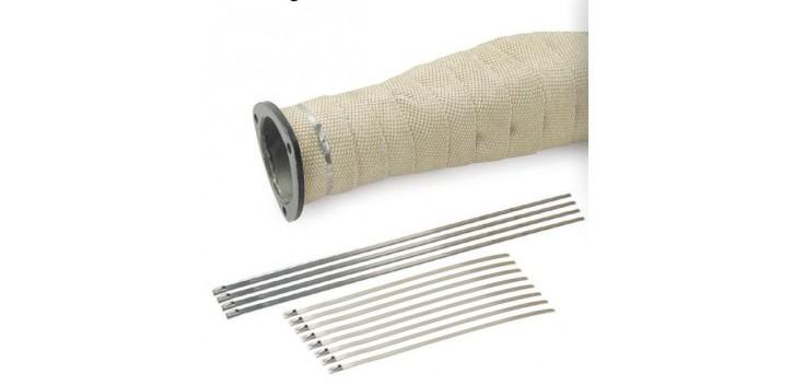Kit complet de colliers inox DEI pour ruban isolant de protection thermique