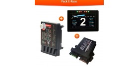 PACK E RACE POWERBOARD+DASHBOARD+CALCULATEUR BLACK