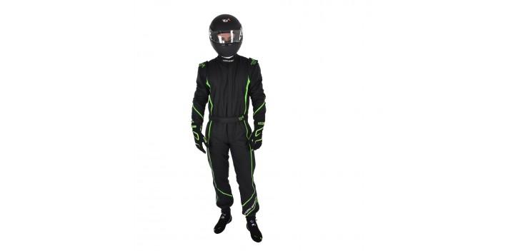 Combinaison FIA TURN ONE V-Pro noir/vert fluo