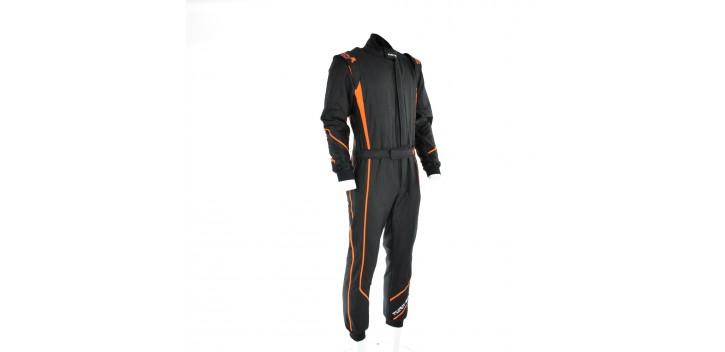 Combinaison FIA TURN ONE V-Pro noir/orange fluo