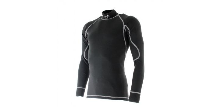 T-shirt FIA manches longues TURN ONE Pro Racer noir/blanc