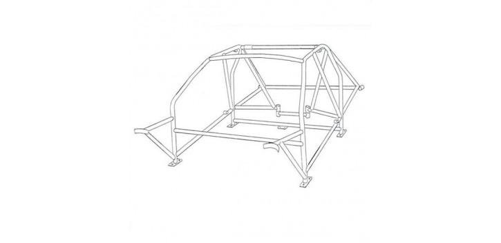 Arceau SPARCO pour FORD Sierra Cosworth 4 Portes multipoints à souder