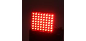 FEU DE PLUIE ARRIERE RECTANGULAIRE FIA REDSPEC 56 LED 12V