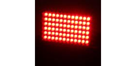 FEU DE PLUIE ARRIERE RECTANGULAIRE FIA REDSPEC 72 LED 12V