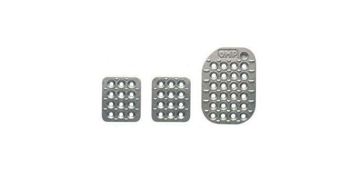 Kit 3 pédales OMP aluminium sablé