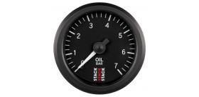 Manomètre STACK mécanique pression huile 0-7 bars