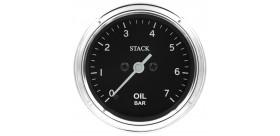 Manomètre STACK analogique pro classique pression huile 0-7 bars
