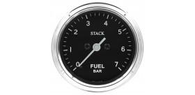 Manomètre STACK analogique pro classique pression essence 0-7 bars