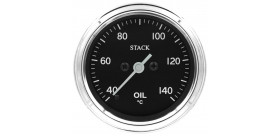 Manomètre STACK analogique pro classique température huile 40-140°C