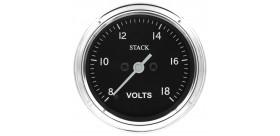 Manomètre STACK analogique pro classique voltmètre 8-18V