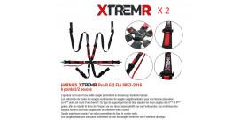 PACK 2 HARNAIS 6 POINTS XTREMR PRO R 6.2 FIA 8853-2016 2/2 POUCES