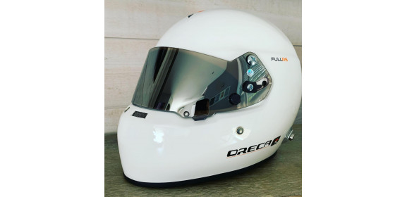 Casque FIA intégral ORECA Full-RS blanc avec visière 8859-2015