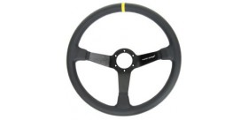 Volant tulipé TURN ONE OFF ROAD  3 branches en cuir