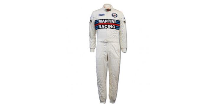 Combinaison FIA SPARCO + RS-5.1 MARTINI RACING blanche