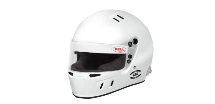 CASQUE FIA Intégral BELL GT6 8859 2015/SA2020 blanc avec clips hans