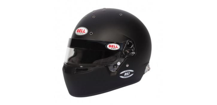 CASQUE FIA Intégral BELL RS7 Pro 8859 2015/SA2020 noir mat avec clips hans