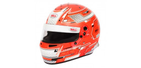 CASQUE FIA Intégral BELL RS7 Pro STAMINA 8859 2015/SA2020 rouge avec clips hans