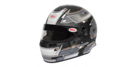 CASQUE FIA Intégral BELL RS7 Pro STAMINA 8859 2015/SA2020 gris avec clips hans