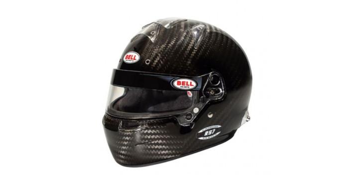 CASQUE FIA Intégral BELL RS7 Carbon 8859 2015/SA2020 avec clips hans