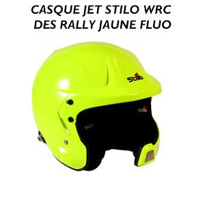 casque jet stilo wrc des rally jaune fluo
